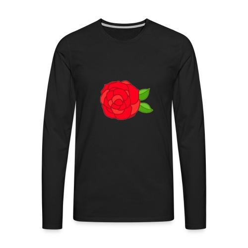 Róża - Koszulka męska Premium z długim rękawem