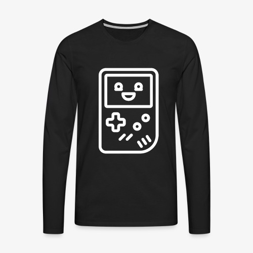 Smiling game console (white) - Men's Premium Longsleeve Shirt
