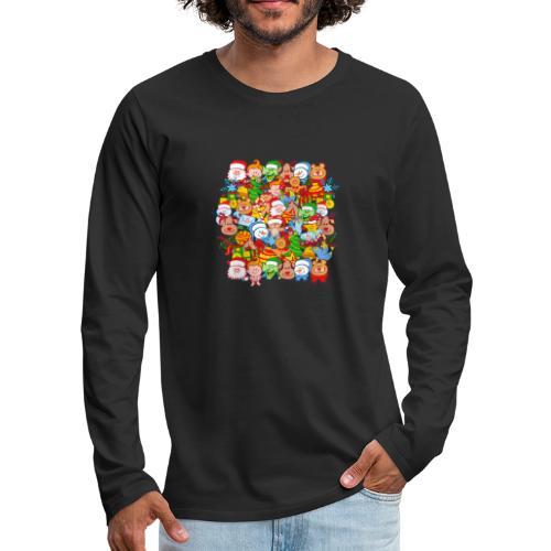 Tous sont prêts pour Noël, pour célébrer en grand! - Men's Premium Longsleeve Shirt