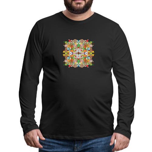 La foule de Noël s'amuse follement et à fond - Men's Premium Longsleeve Shirt