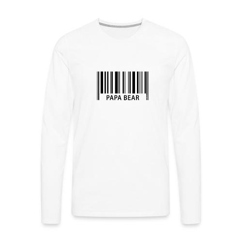 FP42 EAN Papa Bear - Miesten premium pitkähihainen t-paita