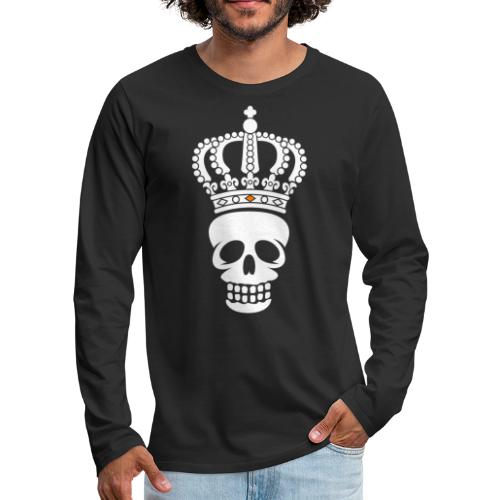 'Custom Dutch' Crowned Skull - Mannen Premium shirt met lange mouwen