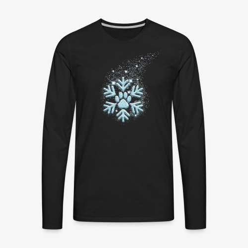dog paw snowflake - Männer Premium Langarmshirt