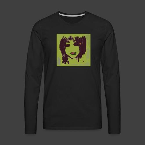 Green brown girl - Men's Premium Longsleeve Shirt