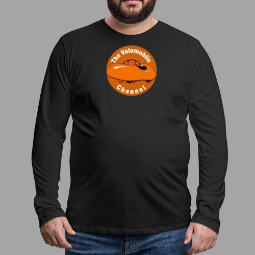 The Velomobile Channel logo - Miesten premium pitkähihainen t-paita