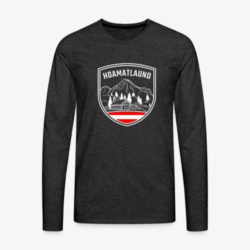 Hoamatlaund logo - Männer Premium Langarmshirt