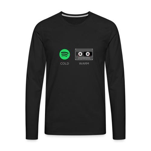 Spotify cold - warm cassette - Men's Premium Longsleeve Shirt