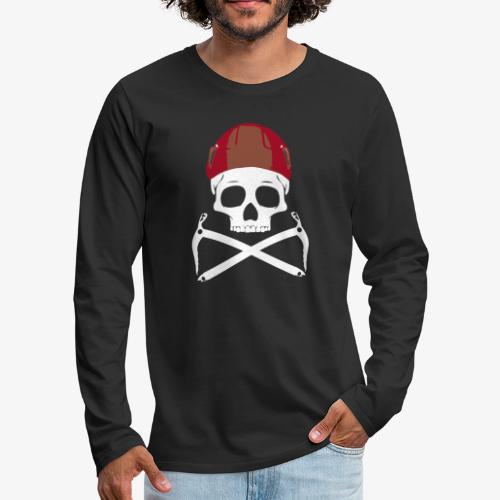 Climber Pirats skull white - Men's Premium Longsleeve Shirt