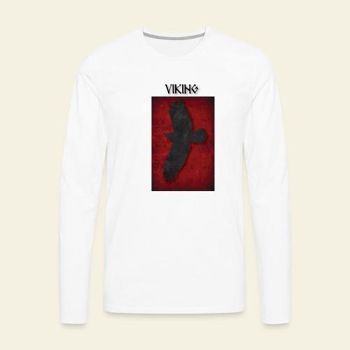 ravneflaget viking - Herre premium T-shirt med lange ærmer
