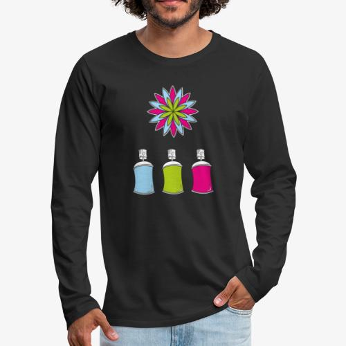 SOLRAC Spray of colors - Camiseta de manga larga premium hombre