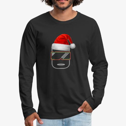 Die Zock Stube - Robot-Head Christmas - Männer Premium Langarmshirt