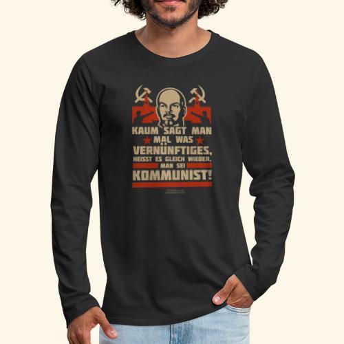 Sprüche T-Shirt Lenin Kommunist - Männer Premium Langarmshirt