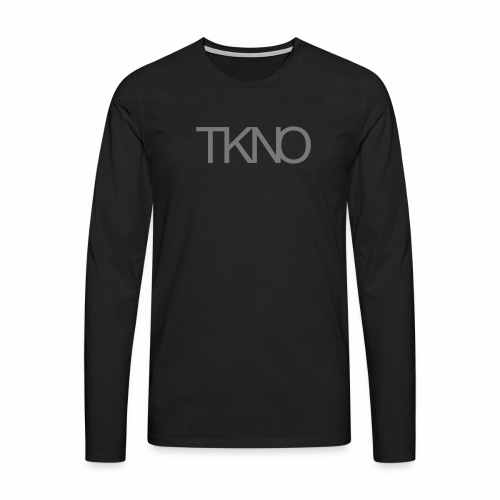 TKNO MNML Techno Minimal dark Tekkno Rave Kind - Männer Premium Langarmshirt