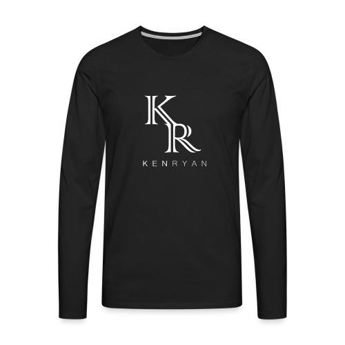 KR KEN RYAN white - Männer Premium Langarmshirt