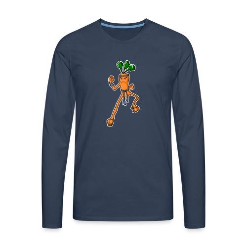 KarateKarotteSansTexte - T-shirt manches longues Premium Homme