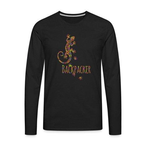 Backpacker - Running Ethno Gecko 3 - Männer Premium Langarmshirt