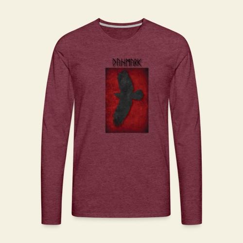 ravnefanen - Herre premium T-shirt med lange ærmer