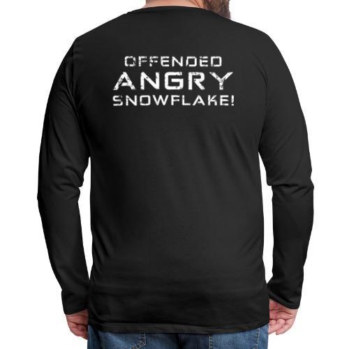 White Negant logo + OFFENDED ANGRY SNOWFLAKE! - Herre premium T-shirt med lange ærmer
