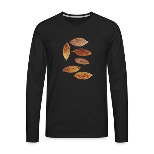Bunte Blätter - Männer Premium Langarmshirt