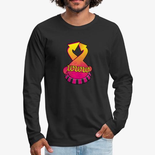 UrlRoulette logo - Men's Premium Longsleeve Shirt