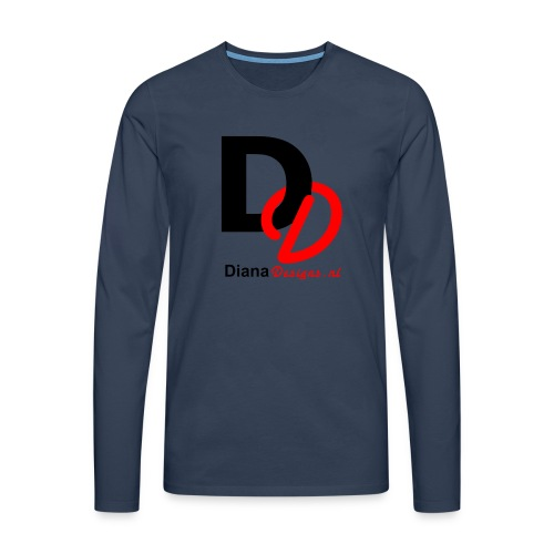 logo_diana_designs-nl - Mannen Premium shirt met lange mouwen