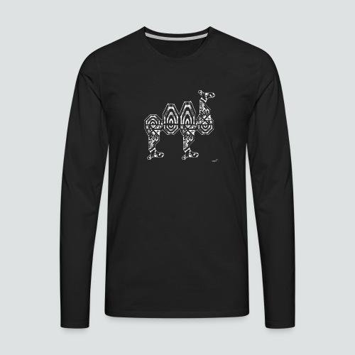 Trampeltier png - Männer Premium Langarmshirt
