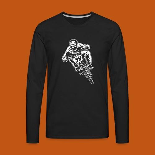 BMX Fahrrad / Bike 02_weiß - Männer Premium Langarmshirt