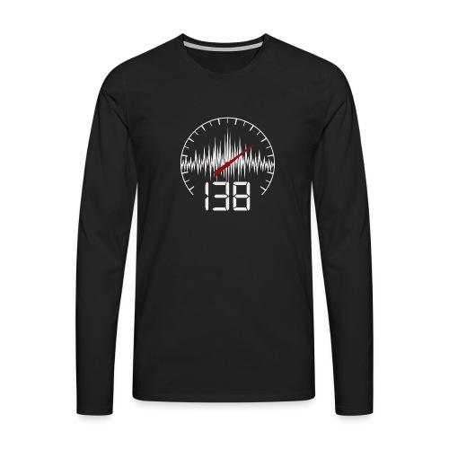 138 (White) - Långärmad premium-T-shirt herr
