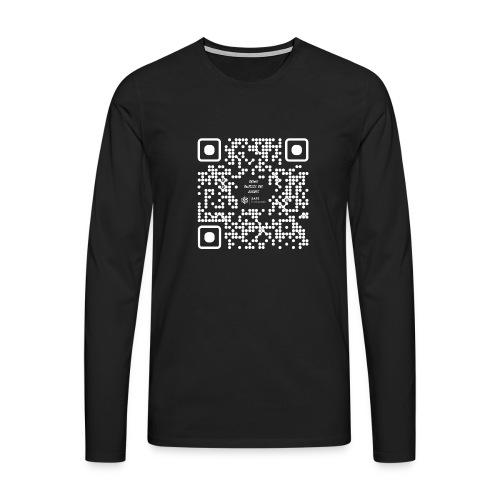 QR The New Internet Should not Be Blockchain Based W - Men's Premium Longsleeve Shirt