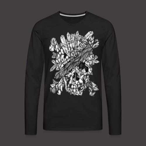 Crane de Pirate de Cristal Noir et Blanc - T-shirt manches longues Premium Homme