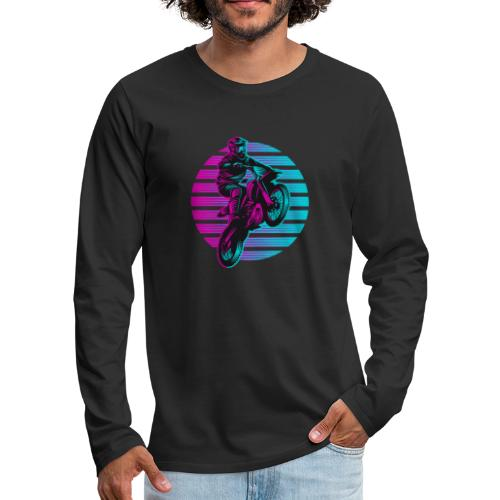 Motocross 2 colour - Männer Premium Langarmshirt
