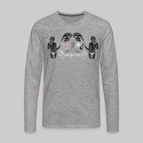 simply wild Dangerous on black - Männer Premium Langarmshirt