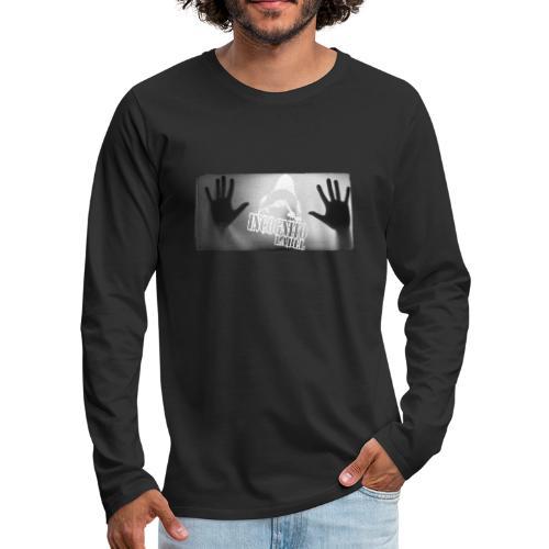 INCOGNITO CIEŃ © - Koszulka męska Premium z długim rękawem