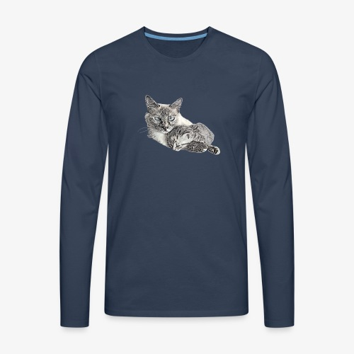 Snow and her baby - Men's Premium Longsleeve Shirt