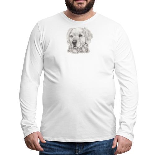 golden retriever - Herre premium T-shirt med lange ærmer