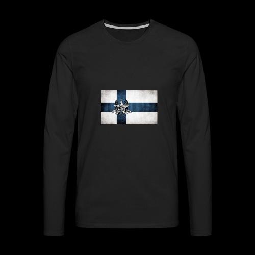 Suomen lippu - Miesten premium pitkähihainen t-paita