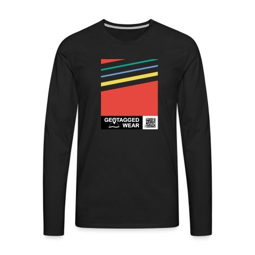 Unisex Stripes Pantone Colored - Männer Premium Langarmshirt