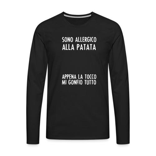 Patata - Maglietta Premium a manica lunga da uomo