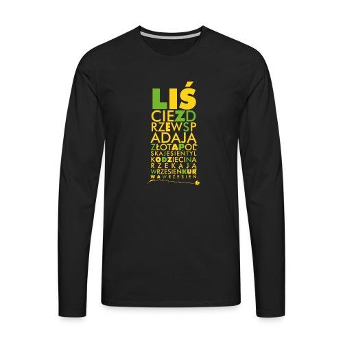 Wrzesień - Koszulka męska Premium z długim rękawem