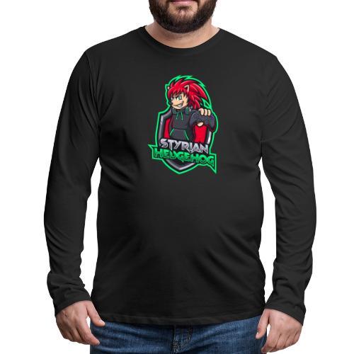 styrian hedgehog Logo - Männer Premium Langarmshirt