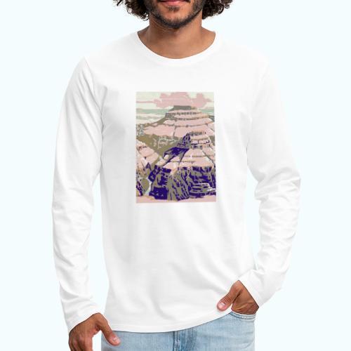 Rocky Mountains Vintage Travel Poster - Men's Premium Longsleeve Shirt