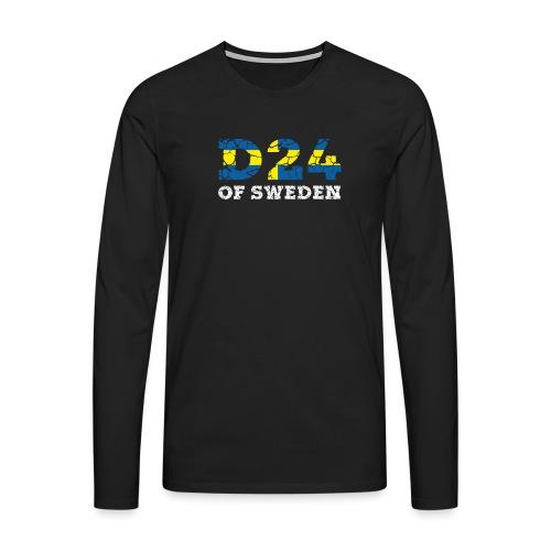 D24OFSWEDEN - Långärmad premium-T-shirt herr