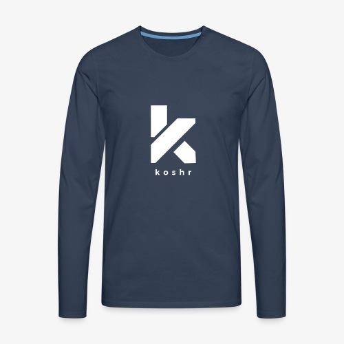 Koshr Official Logo - - Men's Premium Longsleeve Shirt