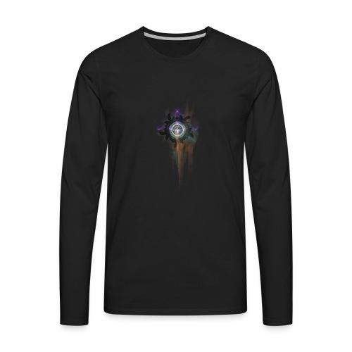Mandala fraktaali - Miesten premium pitkähihainen t-paita