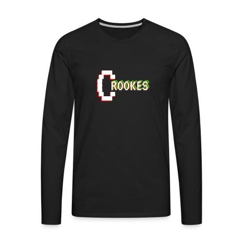 #1 Crookes Retro Black - Men's Premium Longsleeve Shirt