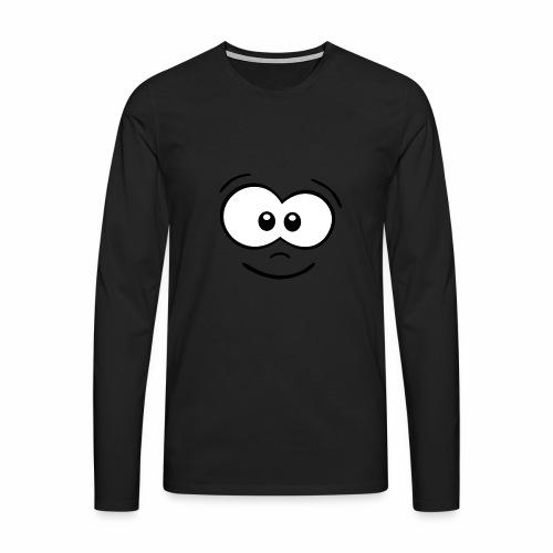 Gesicht fröhlich - Männer Premium Langarmshirt