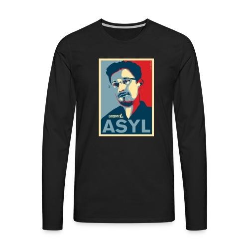 Asyl für Edward Snowden - Männer Premium Langarmshirt