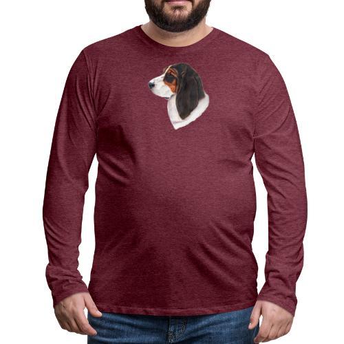 bassethound color - Herre premium T-shirt med lange ærmer