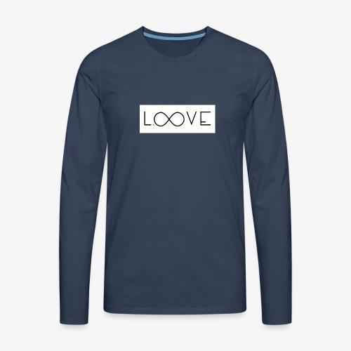 LOOVE Box Logo (SS18) - Maglietta Premium a manica lunga da uomo