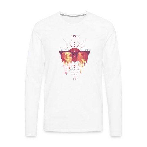 summer png - Herre premium T-shirt med lange ærmer